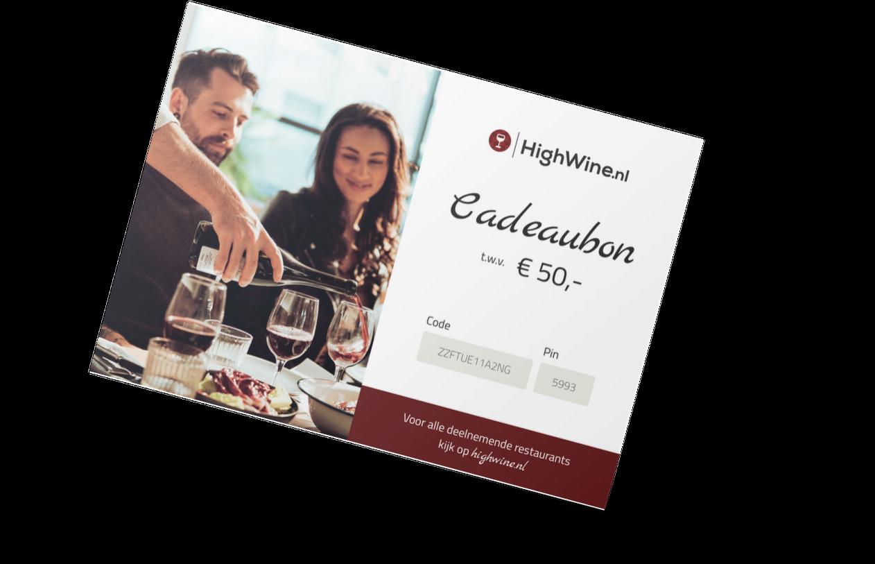 High Wine cadeaubon