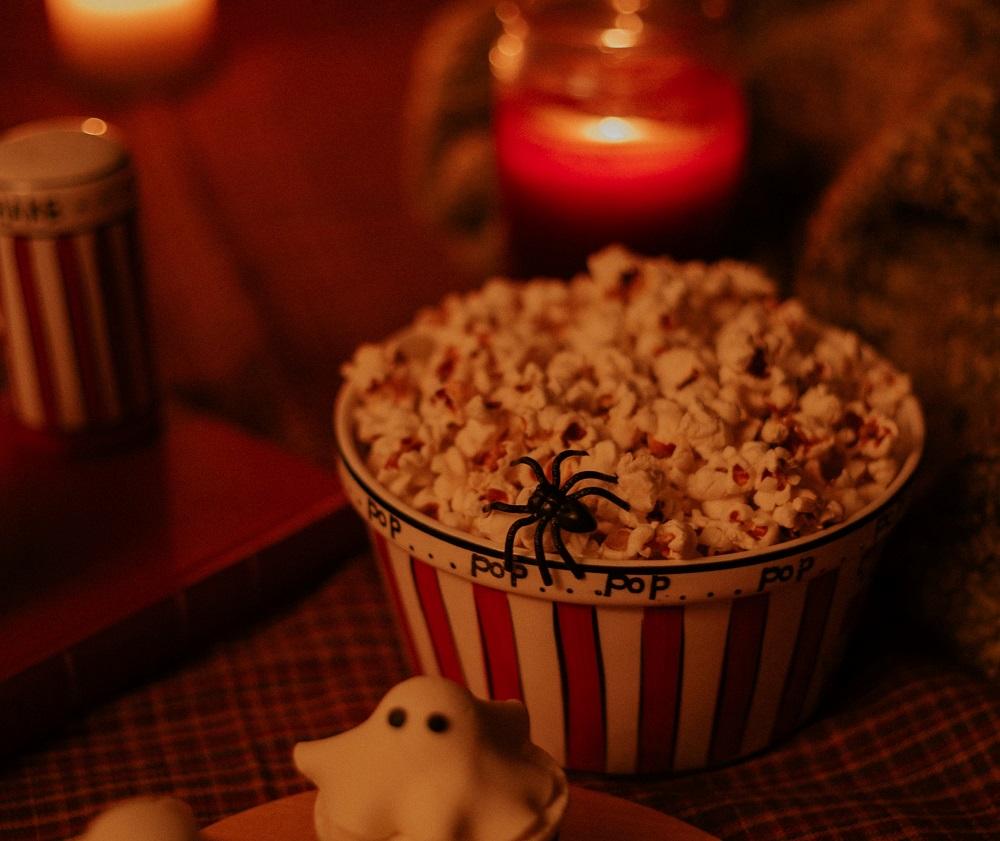 Halloween snacks popcorn