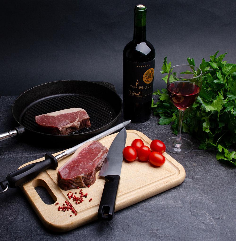 Wijn en vlees