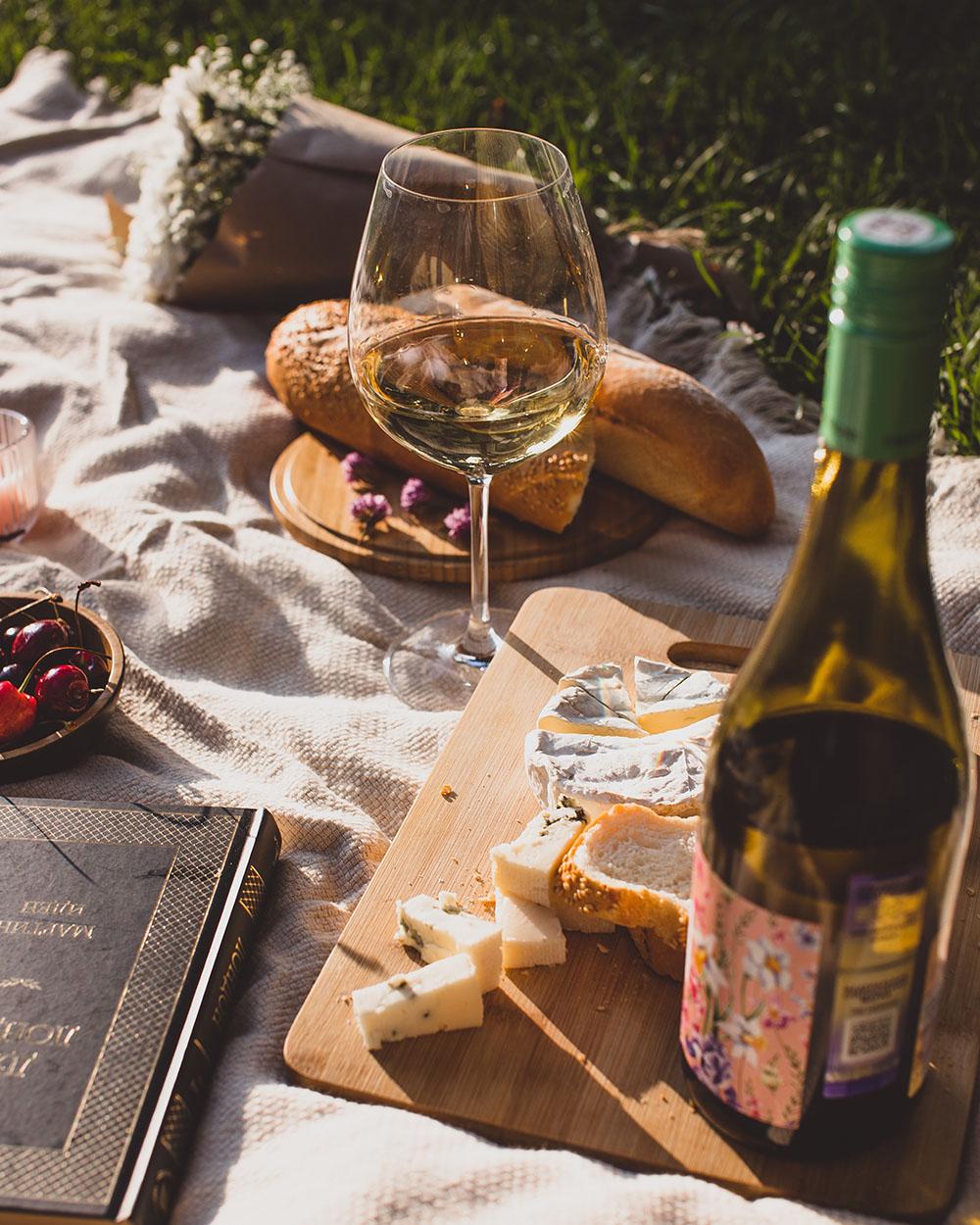 Witte wijn lente