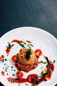 spaghetti in rode wijnsaus